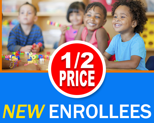 Half Off for New Enrollees - Little Creations Learning Center
