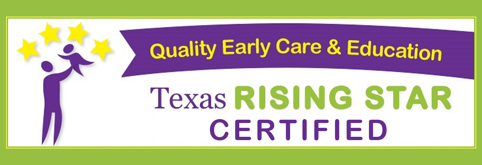 Little Creations Learning Center is Texas Rising Star Certified